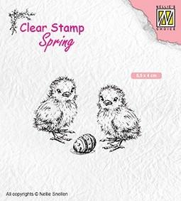 Nellie Snellen - Clearstamp -chicken and eggs