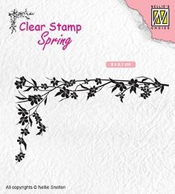 "Nellie Snellen - Clearstamp -Spring ""floral corner-1"""