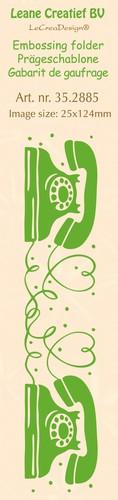 Leane Creatief - Embossing folder - Telephone