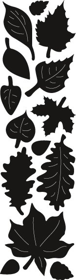 MARIANNE DESIGN CUT/EMB  Punch Die – Autumn Leaves