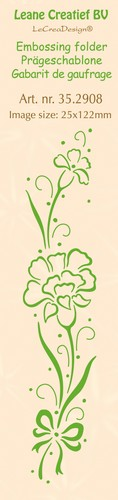 Leane Creatief - Embossing folder - Carnations