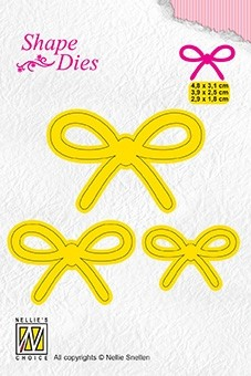 Nellie Snellen - Shape dies - 3 x Bow