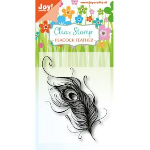 Joy! -  Clear stamp - Peacok feathers