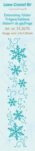Leane Creatief - Embossing folder - border snowflakes