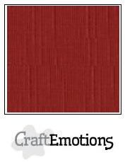 Cardstock - Linen - Dark red