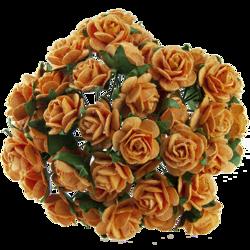 10 st rosor -orange - 15 mm