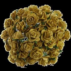 10 st rosor -old gold- 15 mm