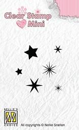 Nellie Snellen - Clearstamps - Stjärnor