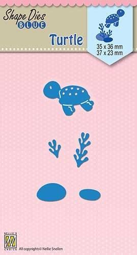 Nellie Snellen - Shape dies blue - Turtle