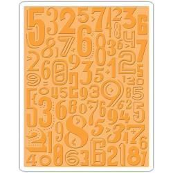 Sizziz Embossing folder - Numeric