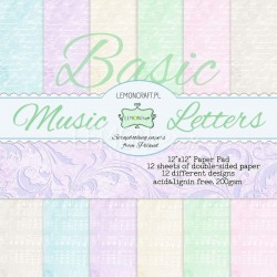 "Papperspack 12 x 12""  Basic music letters"