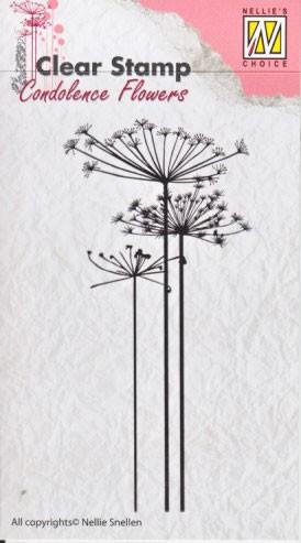Nellie - Snellen - clear stamp Condolense flowers 001