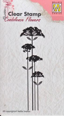 Nellie - Snellen - clear stamp Condolense flowers 002