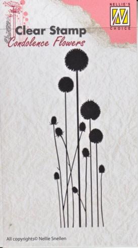 Nellie - Snellen - clear stamp Condolense flowers 003
