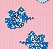 Nellie Snellen - Shape dies blue -  2 doves