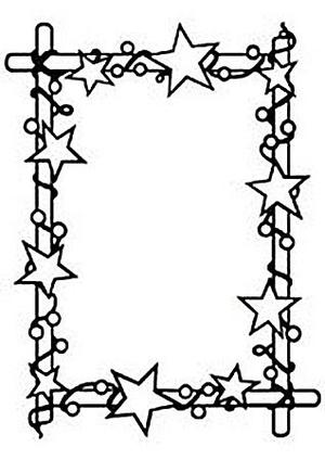 Nellie Snellen - Embossing folder - Starry frame