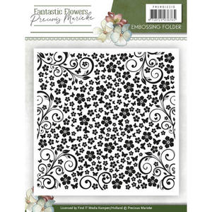 Precious Marieke - Embossing folder - Fantastic flowers