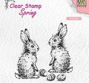 Nellie Snellen - Clearstamp -two hares