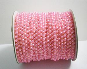 Pärlband, rosa, 4mm