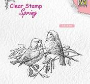 "Nellie Snellen - Clearstamp -Spring""two birds"""