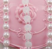 Pärlband, vit, 6mm