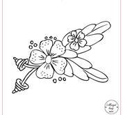 Blomma med blad 092