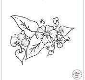 Blomma med blad 093