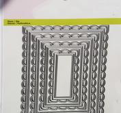 CE - Big Nesting Die - open rectangle scalop XL
