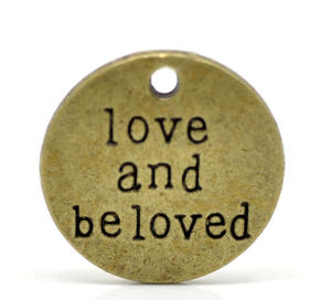 "2 runda charms ""love and beloved"""