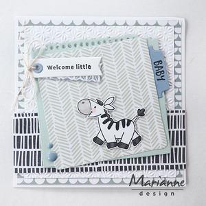 Marianne design - clear stamp -  Cute animals - Zebra