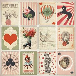 scrapberrys - Vintage circus - magic deck