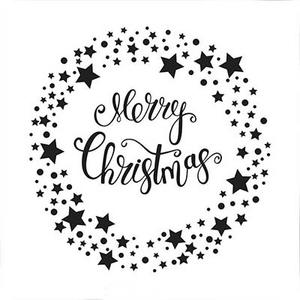 Nellie Snellen - Embossing folder - Merry Christmas