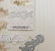 Dies - God Jul - Gothic  -  ROX Stamps