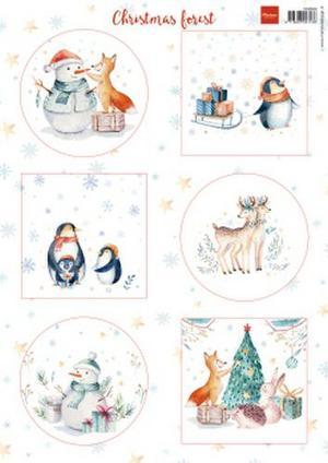 Marianne Design - Klippark-Christmas forest-vk9580
