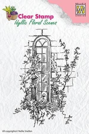 Nellie Snellen -CLEAR STAMP - IDYLLI FLORAL SCENES -  WINDOW