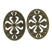 4 st ovaler med mönster