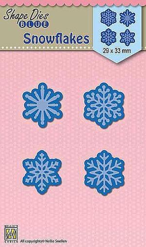 Nellie Snellen - Shape dies blue - 4 Snowflakes