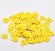 10 st gula hjärtan, knappar