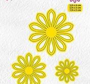 Nellie Snellen - Shape dies - 3 x flower