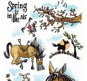 CE-Clearstamp-horses 3 Spring Carla Creaties