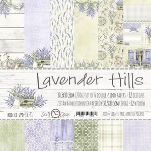 "Craft o Clock - Lavender Hills 12x12"" paper pack"