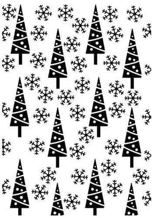 Nellie Snellen - Hobby Solution - Pine-trees & Snowflakes