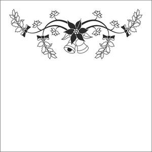 "Nellie Snellen -  Embossing folder ""Christmas bells"" 130x130mm"