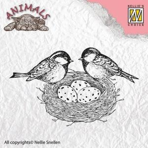"Nellie - Snellen -  Clear Stamps Animals ""birdsnest"""