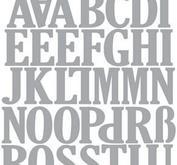 Craft Emotions Uppercase  Alphabet, ca 2,5 cm höga