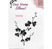 Nellie Snellen - Clearstamp - SILHOUET - BRANCH WITH FLOWERS