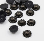 30 st pärlblommor - svarta