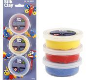 Silk clay - röd - blå gul
