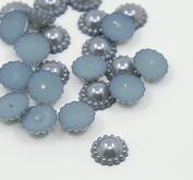 30 st pärlblommor - grå