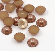 30 st pärlblommor - sadelbrun